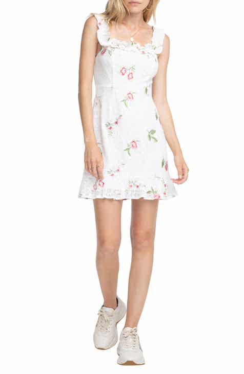 ASTR the Label Embroidered Lace Dress by ASTR