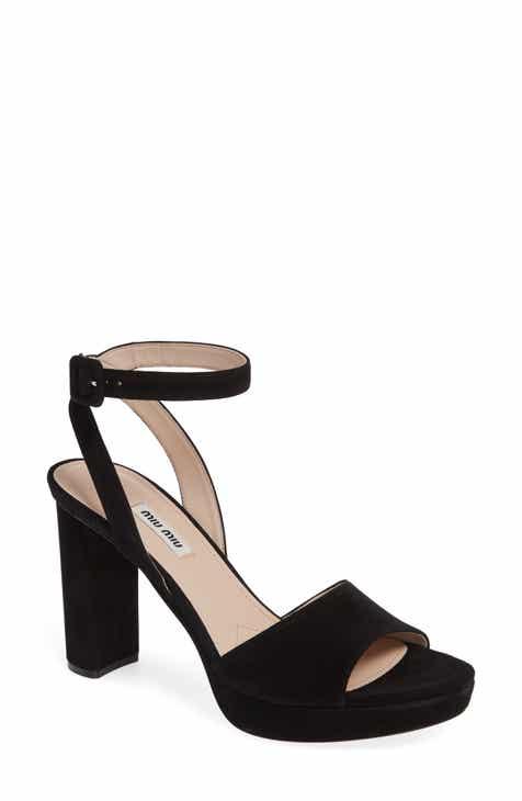 edc162f14141 Miu Miu Glitter Platform Sandal (Women).  750.00. Product Image. GEMMA  PATENT  BLACK PATENT