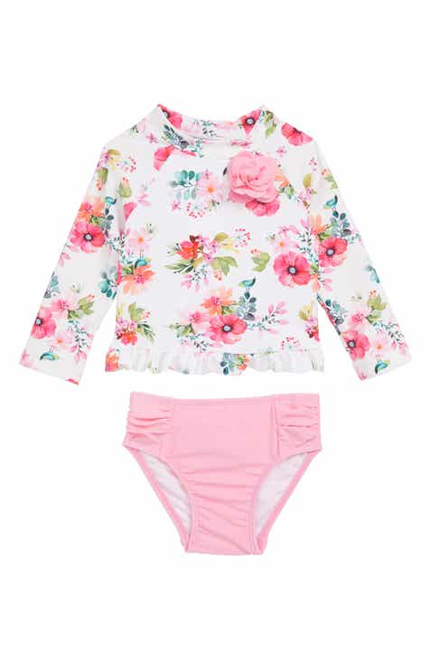 e7749abebd Little Me Watercolor Floral Two-Piece Rashguard Swimsuit (Baby)