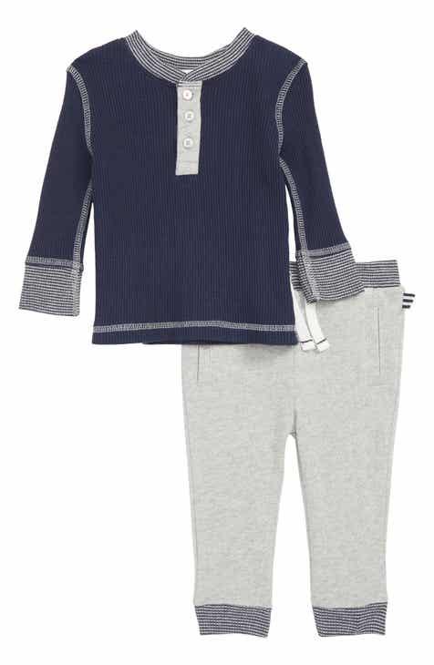 Splendid Thermal Henley T-Shirt & Sweatpants Set (Baby)