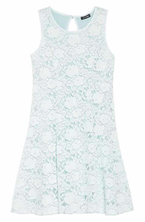 Zunie Lace Skater Dress (Big Girls) 484deb1bc