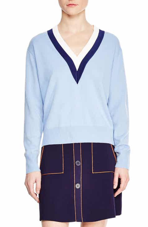 sandro Nael Stripe Wool & Cashmere Sweater by SANDRO