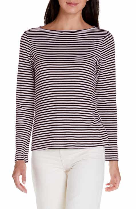 fb8070f7 Michael Stars Kailee Stripe Boatneck Tee