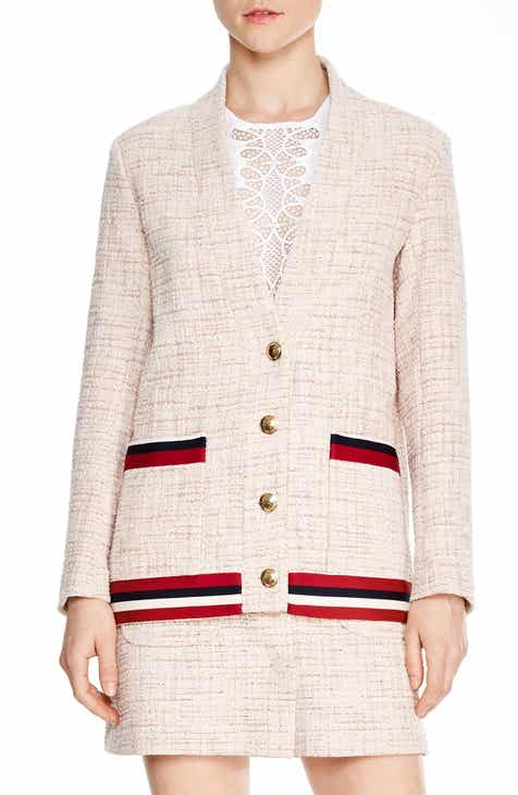 sandro Adelaide Tweed Jacket by SANDRO