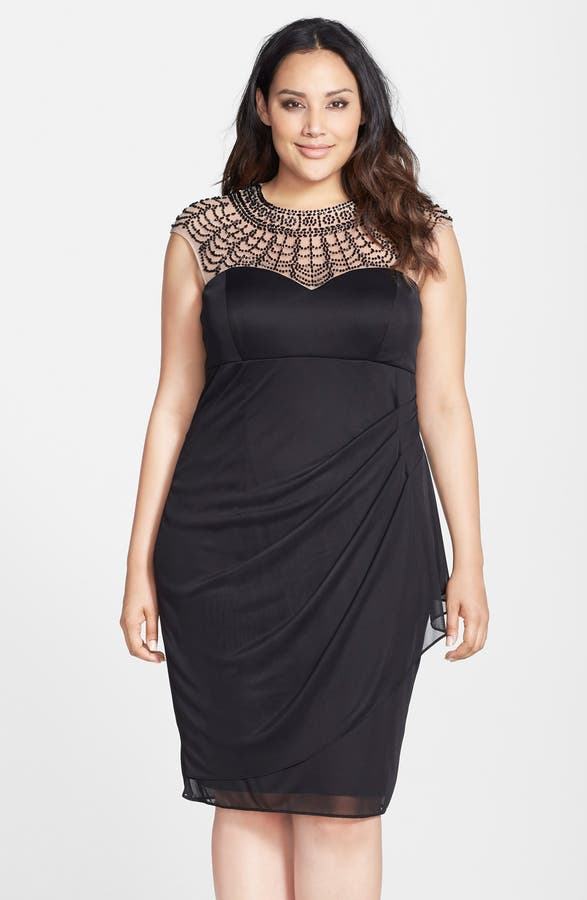 Xscape Beaded Matte Jersey Cocktail Dress Plus Size Nordstrom