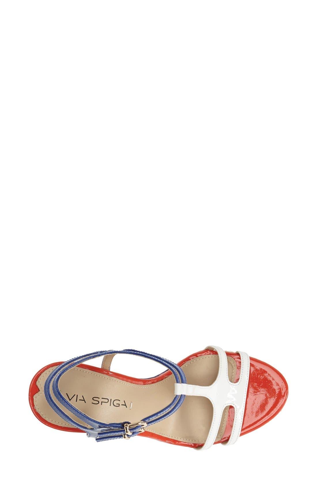 Alternate Image 3  - Via Spiga 'Meza' Leather Dual Ankle Strap Platform Wedge (Women) (Nordstrom Exclusive)