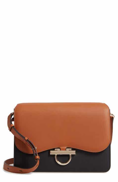 253f75c9fc5 Salvatore Ferragamo Large Joanne Leather Shoulder Bag
