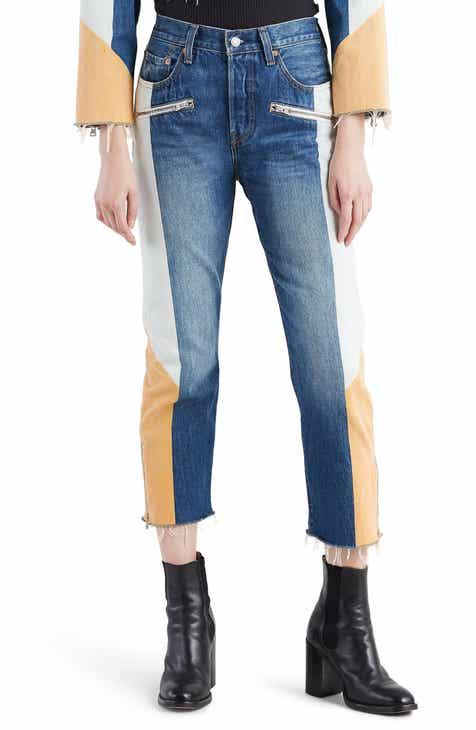 0c34d7fb73a Levi s® 501® Moto Crop Jeans (Show Teeth)