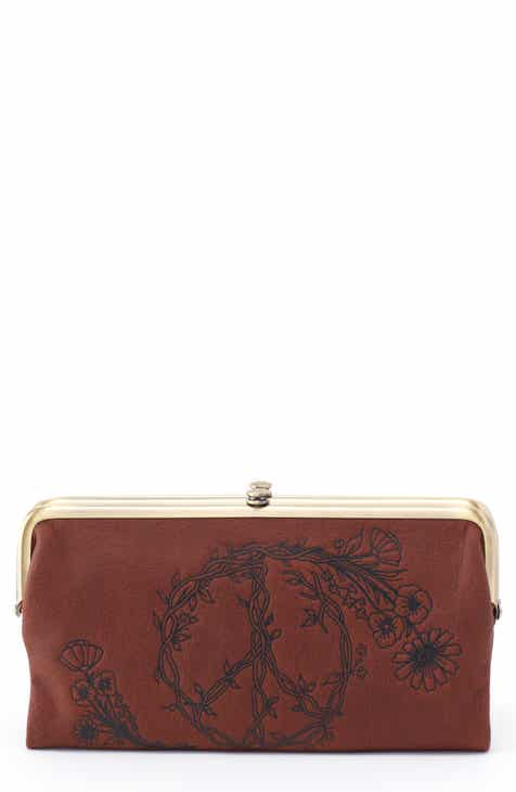 fd5cb7655e75 Hobo Lauren Floral Peace Leather Clutch