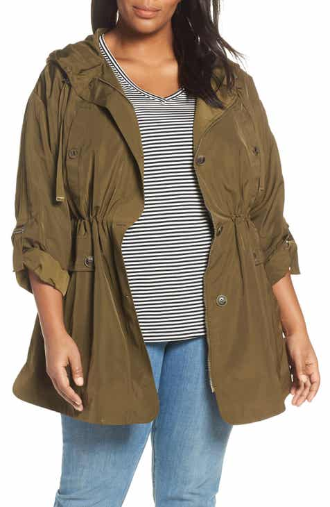 f318c2b5a3c7 Gallery Fitted Hooded Raincoat (Plus Size)
