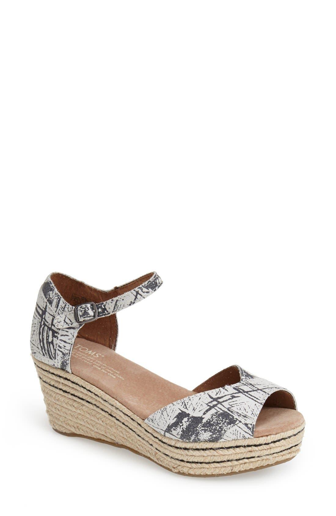 TOMS Espadrille Wedge Sandal (Women)