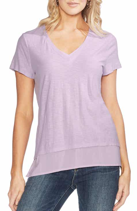 6e0ddd9cb4c Vince Camuto Layered Look V-Neck Tee