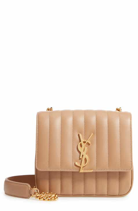 3765cdae48e1 Saint Laurent Medium Vicky Leather Crossbody Bag