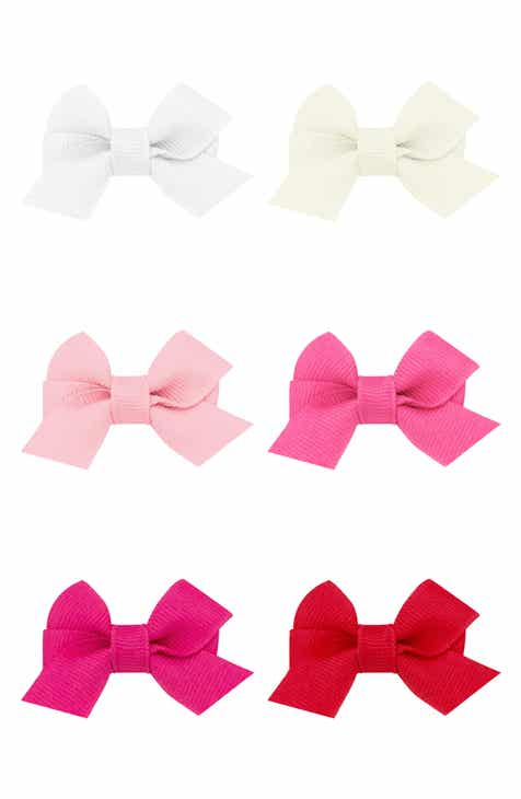 PLH Bows Set of 6 Bow Hair Clips (Baby)