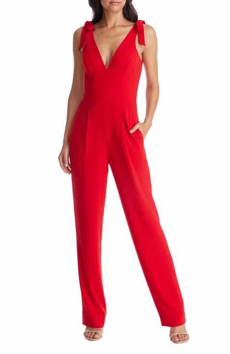 7f8b6e445c Dress the Population Maira Tie Shoulder Crepe Jumpsuit
