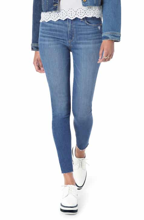 Joe's Flawless - Honey Curvy High Waist Raw Hem Skinny Jeans (Penelope) by JOES