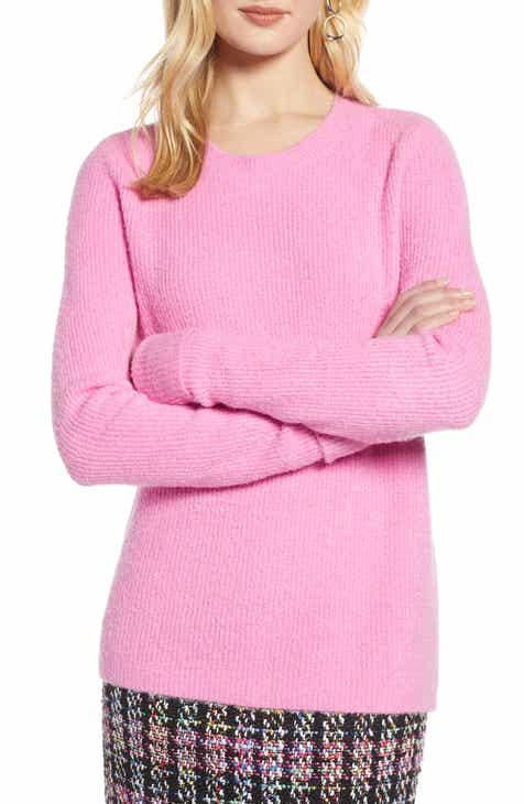 30814db464 Halogen® Cuffed Sleeve Sweater (Regular   Petite)