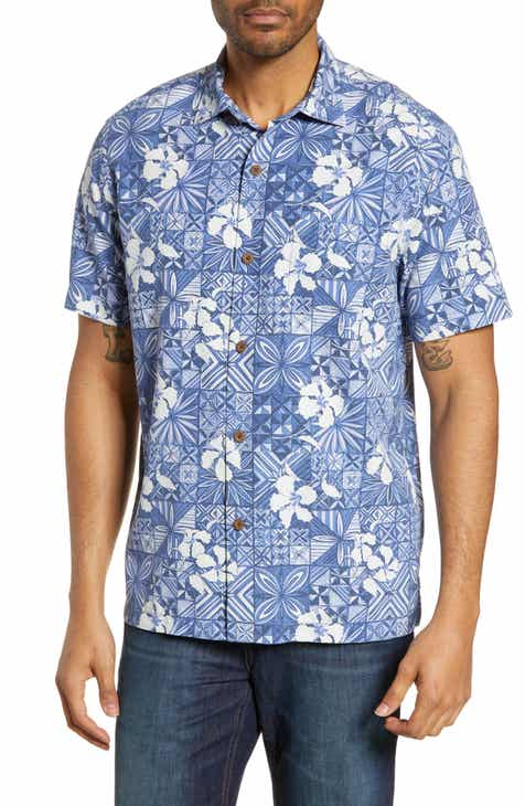 203a66fc Tommy Bahama Tahitian Tiles Classic Fit Silk Blend Sport Shirt