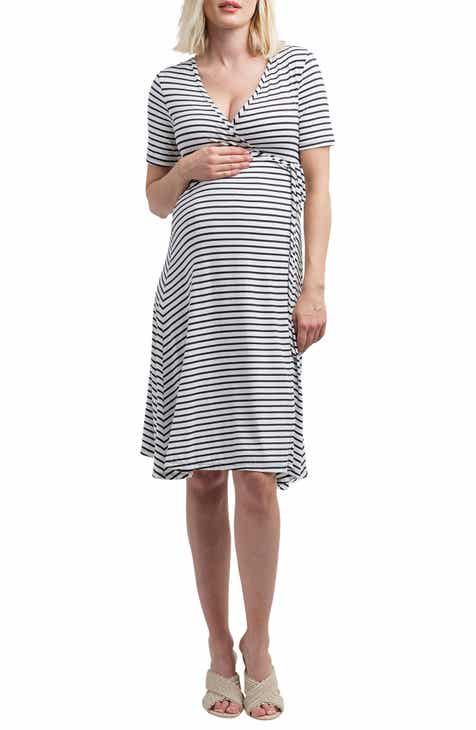 cd4810c79b1 Nom Maternity Maya Maternity Nursing Wrap Dress