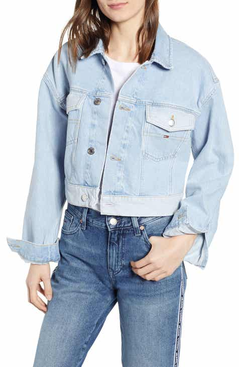 TOMMY JEANS Contrast Wash Crop Trucker Jacket by TOMMY JEANS