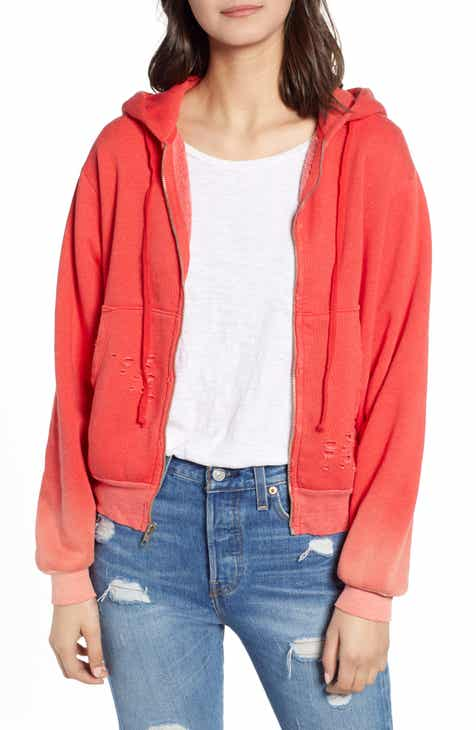 Wildfox Regan Destroyed Zip Hoodie by WILDFOX