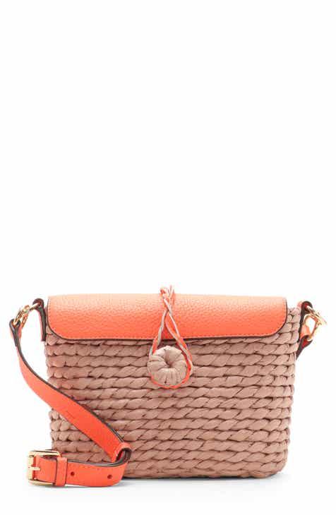 840b2a30a873 Vince Camuto Kiana Leather   Straw Crossbody Bag