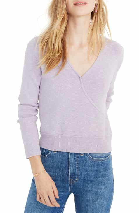 fe40c1a67f0 Madewell Wrap Front Pullover Sweater (Regular   Plus Size)