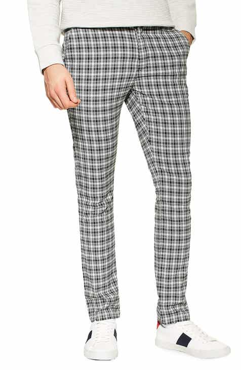 9ccf309bad47 Topman Check Stretch Skinny Fit Trousers