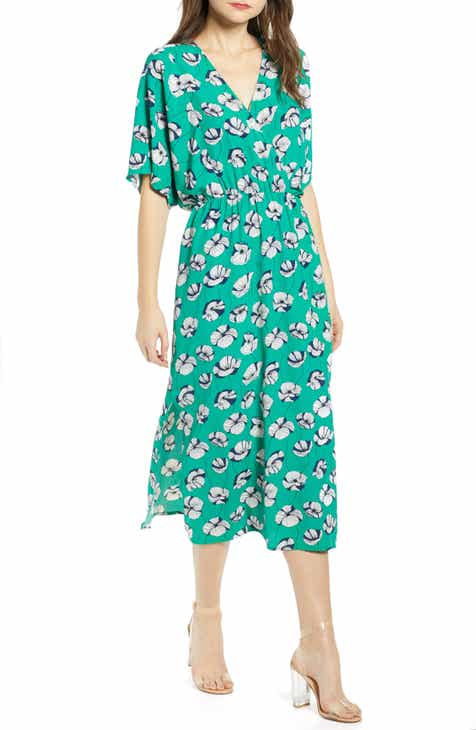 8e9a24804e1 All In Favor Floral Print Midi Dress