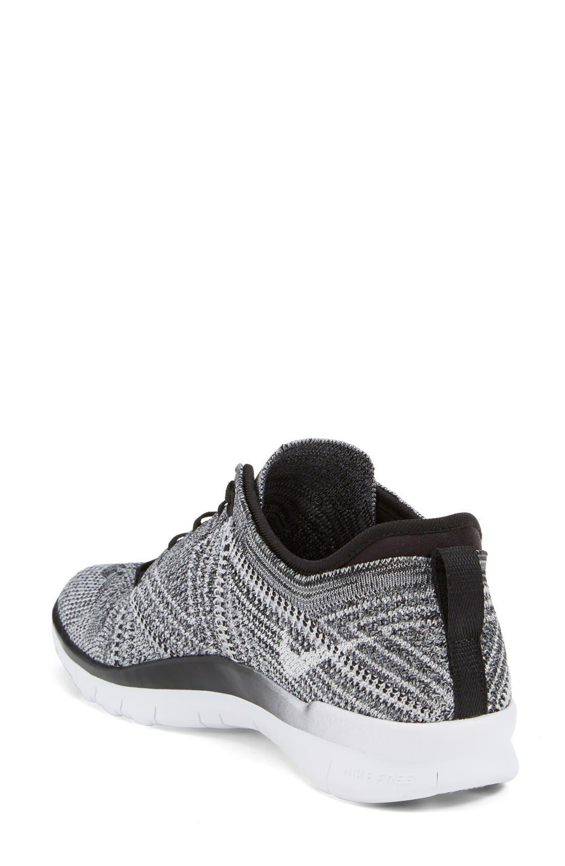 'Free Flyknit 5.0 TR' Training Shoe,                             Alternate thumbnail 2, color,                             Black/ Grey/ White
