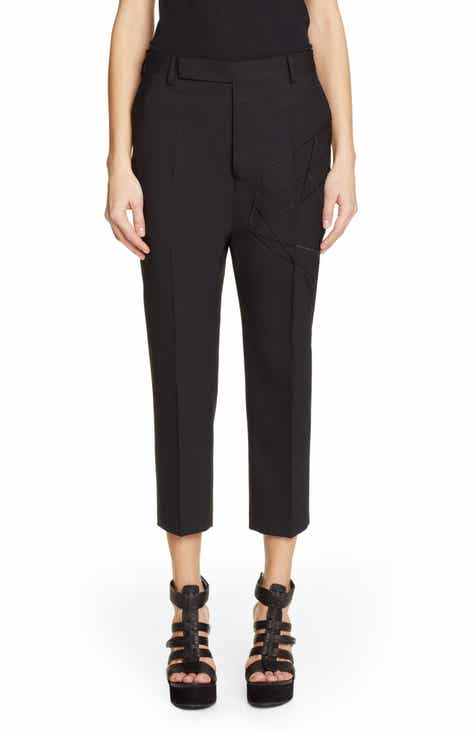 Rick Owens Astaire Crop Stretch Wool Pants by RICK OWENS