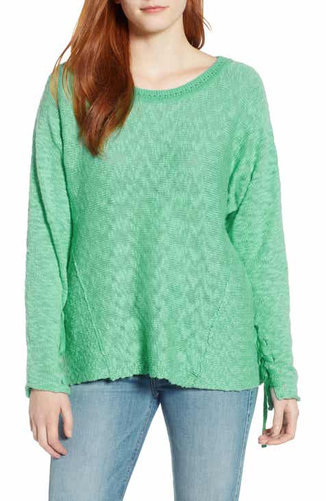 91cd41a0945 Caslon® Mix Stitch Swing Cotton Sweater (Regular   Petite)