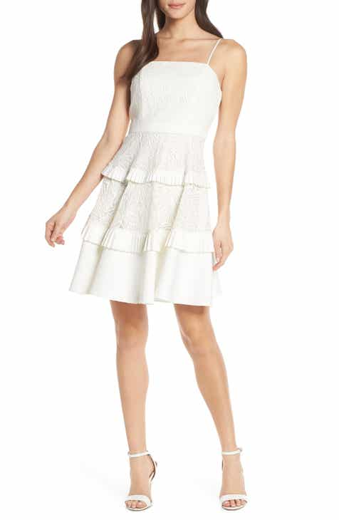 Jill Jill Stuart Ruched Chiffon Cocktail Dress by Jill Jill Stuart