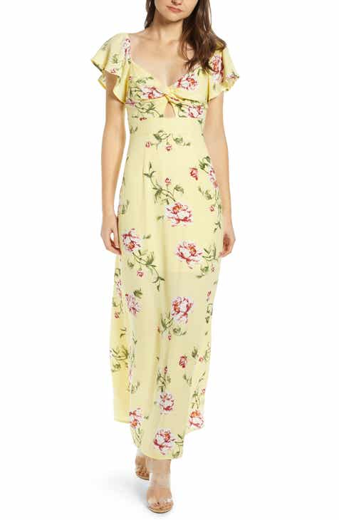 fe630df738a Row A Twist Front Maxi Dress
