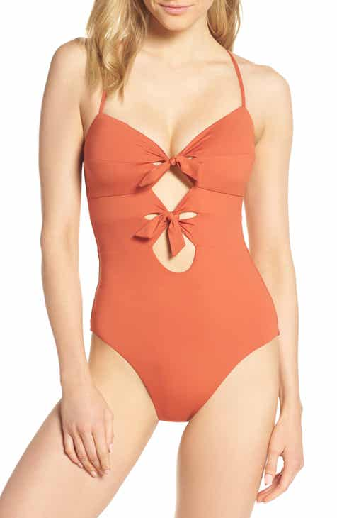 5282bc1a9e Becca Double Tie Front One-Piece Swimsuit