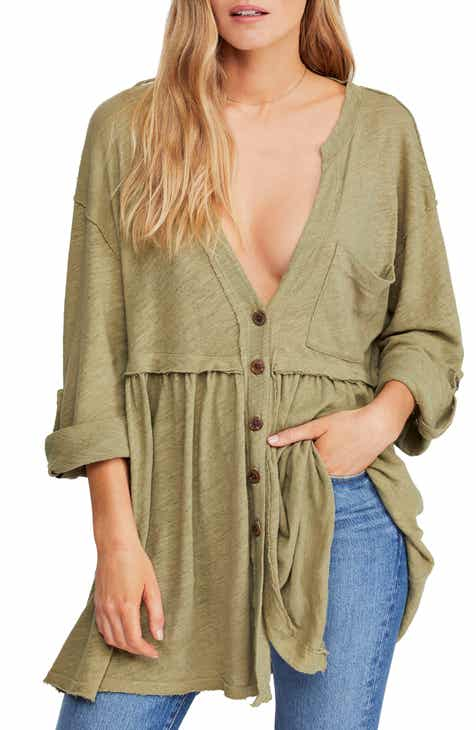 Free People Jolin Button Front Tunic