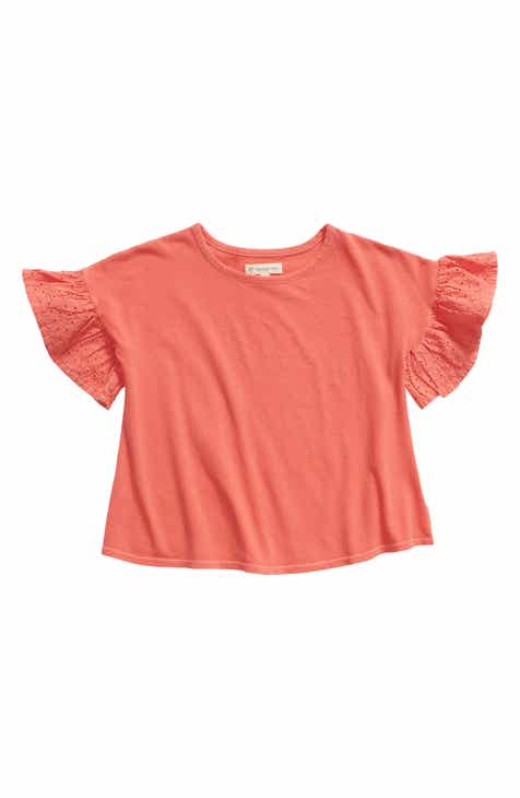 Tucker +Tate Lucky Eyelet Sleeve Tee (Toddler Girls