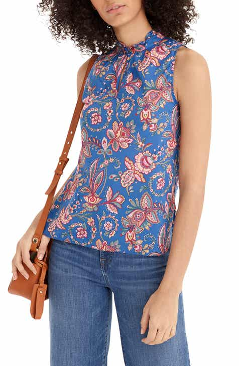 79b6fca2173a6 J.Crew Liberty® Flora Belle Ruffle Neck Top