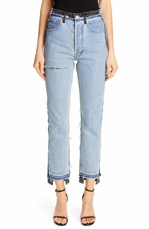 Vetements Reworked Straight Leg Jeans by VETEMENTS