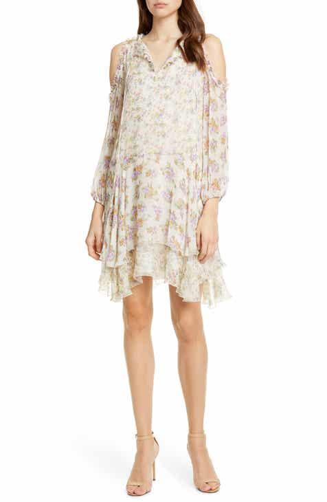 1107d123a68 Alice + Olivia Glynda Floral Ruffle Cold Shoulder Dress