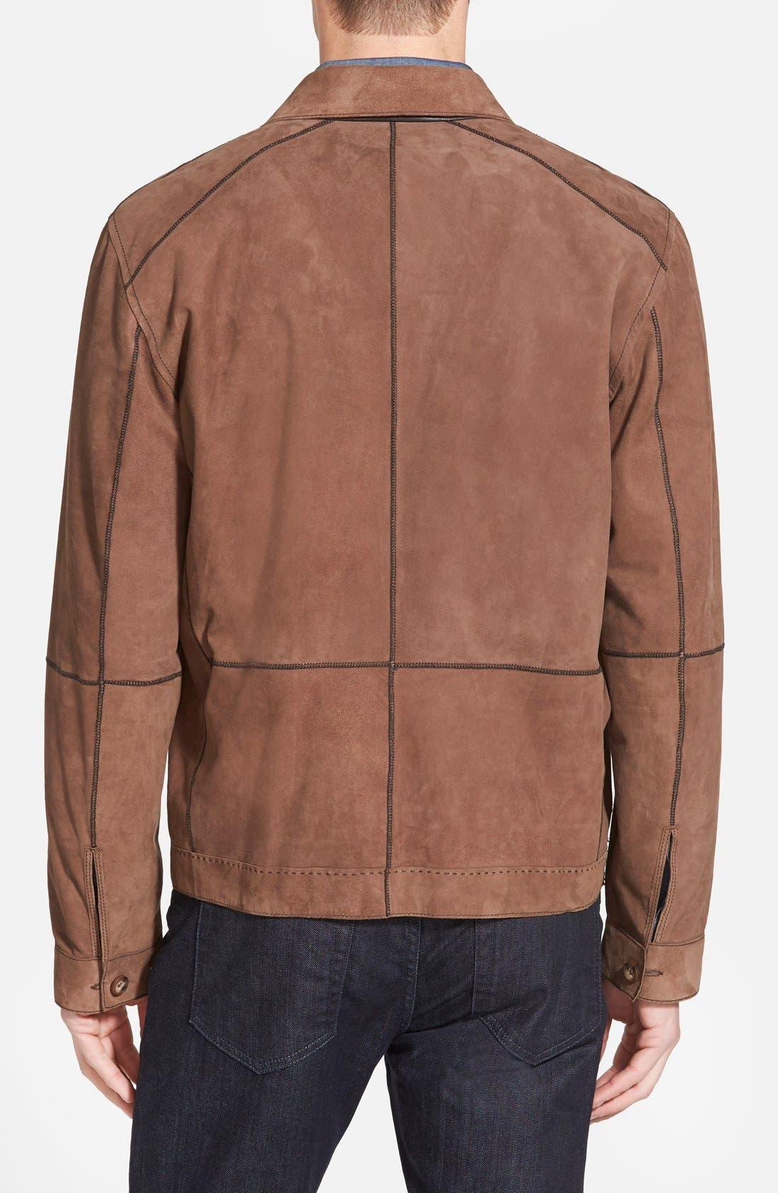 Reversible Suede Jacket,                             Alternate thumbnail 2, color,                             Chocolate