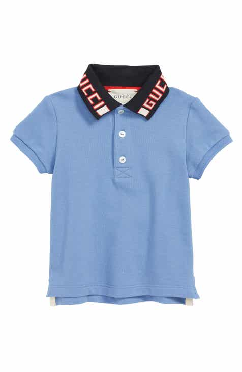b8404486 Gucci Cotton Logo Collar Polo Shirt (Baby)