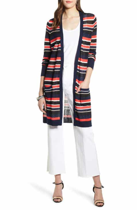 3026eee160 Halogen® Long Linen Blend Cardigan (Regular   Petite)