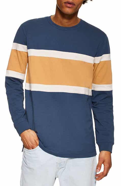 43223ac7bab16 Topman Panel Long Sleeve T-Shirt