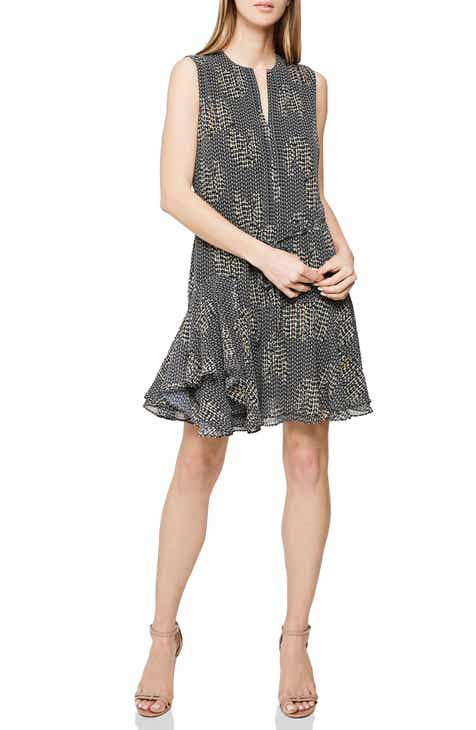 Tahari Metallic Chiffon Overlay Sheath Dress (Plus Size) by TAHARI