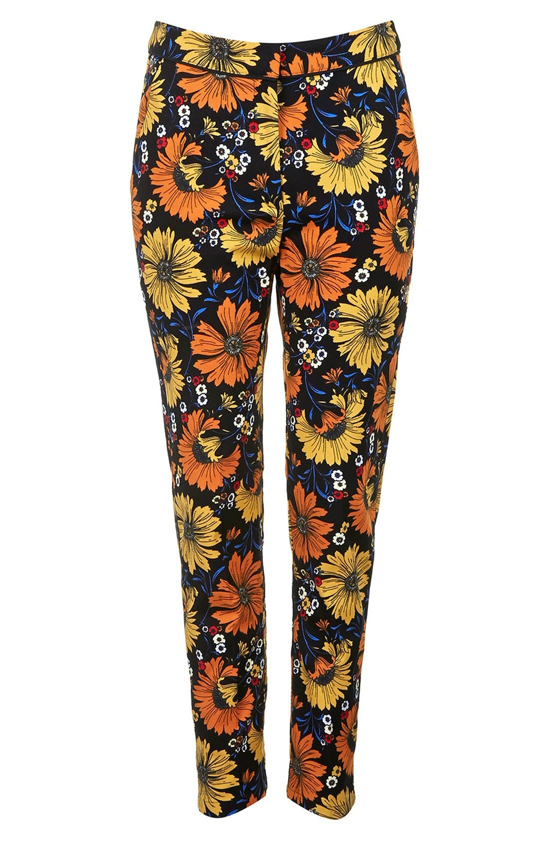 Alternate Image 3  - Topshop Daisy Print Cigarette Trousers