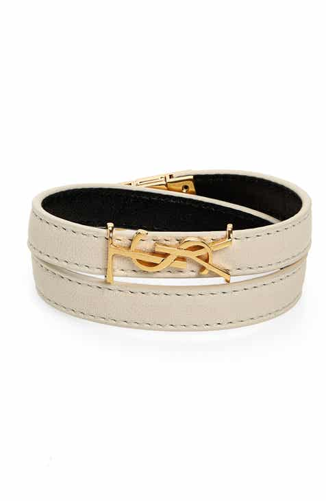 cca39e19f Saint Laurent Opyum YSL Double Wrap Bracelet