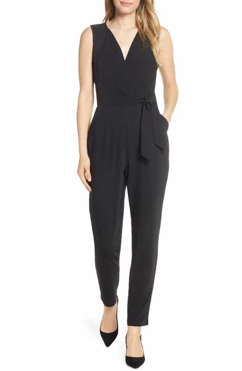 Chi Chi London Jennifer Mesh Bodice Jumpsuit (Plus Size) by CHI CHI LONDON