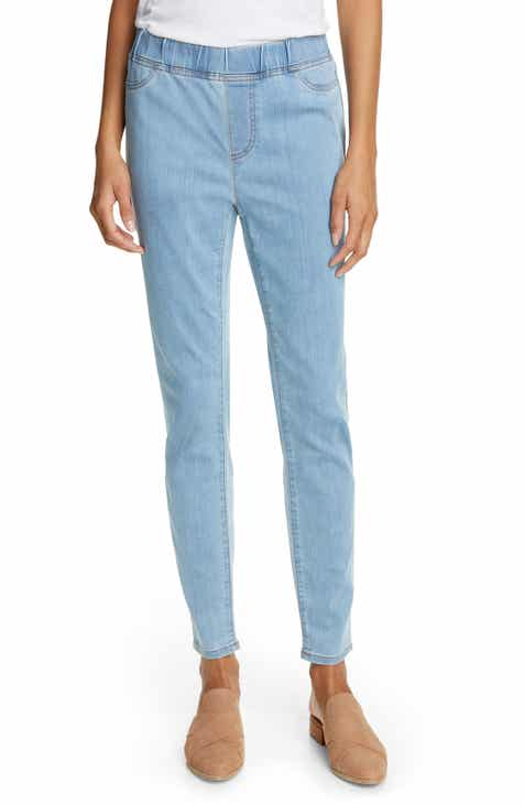 71be4857b6490 Eileen Fisher Stretch Denim Leggings (Regular & Petite)