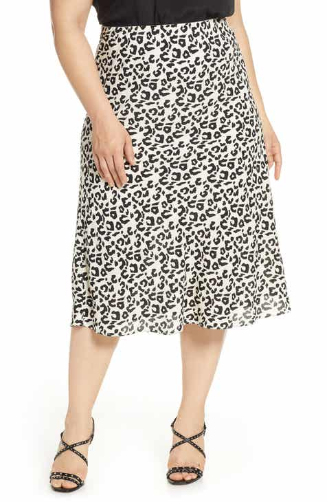 d47c39d04 Leith Bias Cut Midi Skirt (Plus Size)